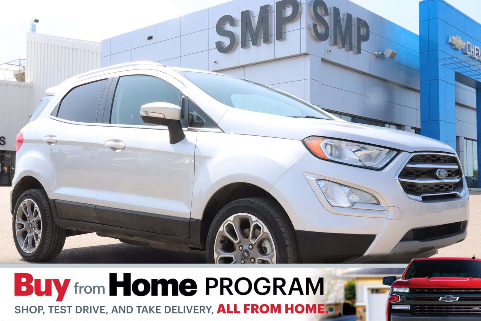 Certified Pre-Owned 2019 Ford EcoSport Titanium - Nav, S. Roof, Htd Seats, Back Up Camera, New Tires 4WD