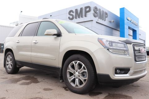 Certified Pre-Owned 2015 GMC Acadia SLT- Htd/Cooled Leather, Rem Start, Back Up Camera AWD Sport Utility
