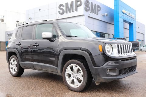 2018 Jeep Renegade Limited - Nav, Htd Leather, My Sky Sunroof, Rem Start